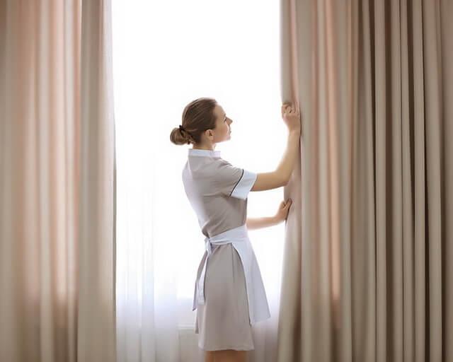 Quy trình giặt màn cửa tại GRCSG được diễn ra theo 6 bước chính