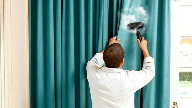Hướng dẫn giặt rèm cửa bằng phương pháp giặt hơi